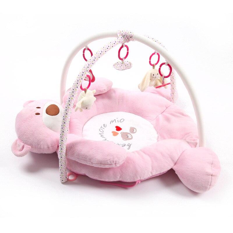 Tapis de développement de bébé pour les nouveau-nés épais tapis doux pour enfants avec hochet en peluche jouet Musical éducatif bébé activité Gym tapis de jeu - 2