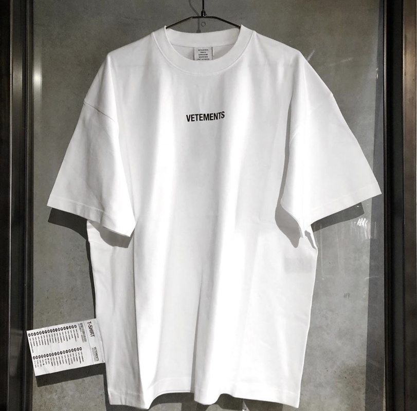 19SS Vetements EU Size T Shirt Loose Fit Style 1:1 Vetements Top Tees Streetwear Hip Hop Fog Vetements Tshirts Men Women