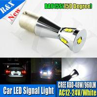 1pcs 1156 BAU15S 9 SMD White Tail Turn Signal CREECHIPS Py21w Led Car Light Lamp Bulb