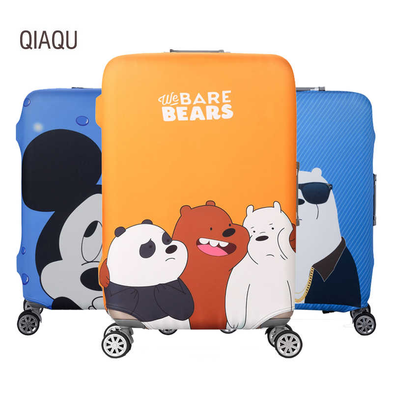 Cartoon animals Travel Cover Luggage Cover 19-32 Inch Trolley Baggage Elastic Dust Protective Case Cover Travel Accessories