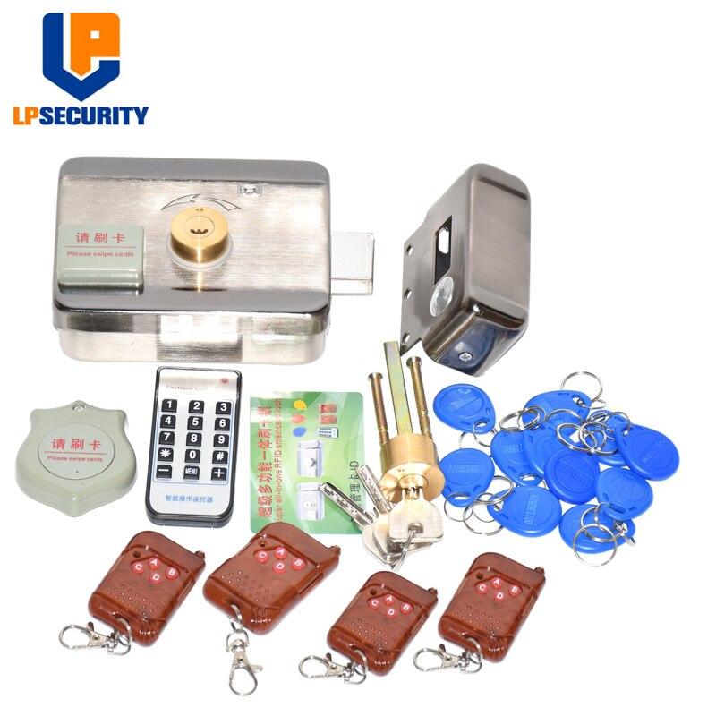 Serrure électronique de porte de RFID/serrure électrique intelligente de grève système magnétique de contrôle d'accès d'entrée de porte d'induction y 15 étiquettes télécommandes