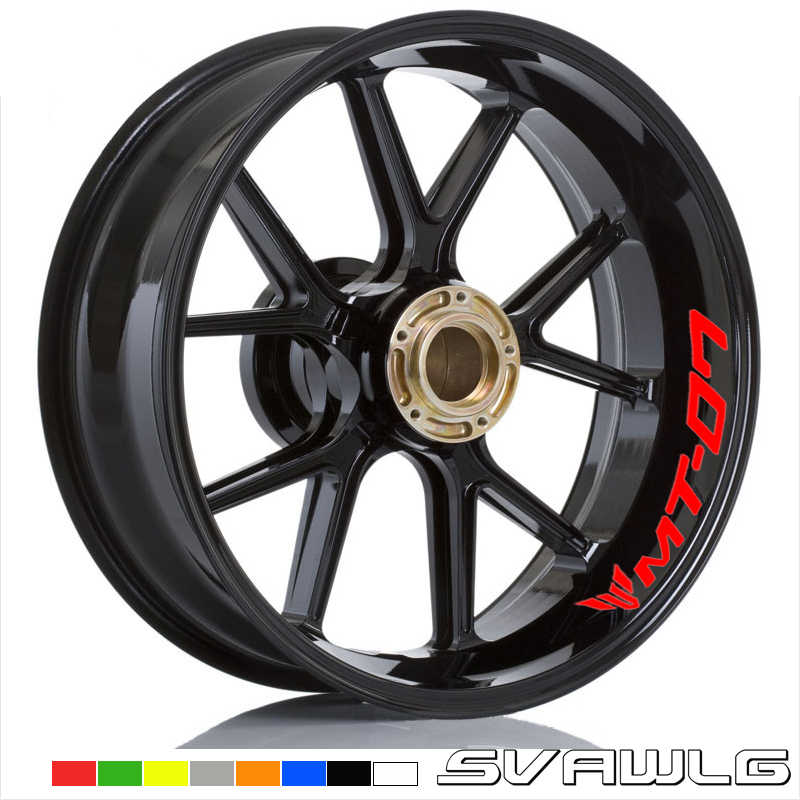 high quality for YAMAHA MT 07 motorcycle wheel decals
