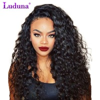 Luduna Lace Front Human Hair Wigs With Baby Hair Water Wave Lace Wigs Brazilian Hair Wigs