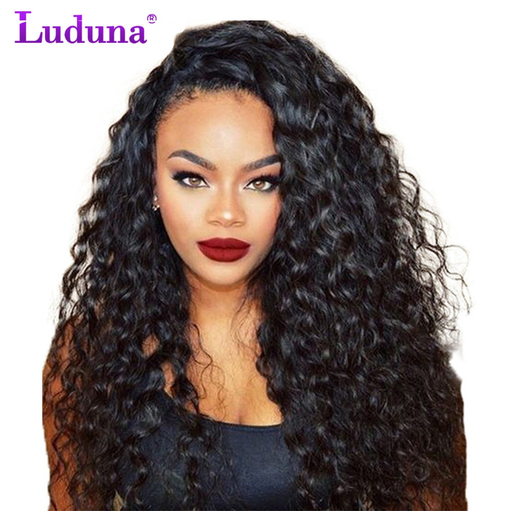 Luduna Lace Front Human Hair Wigs With Baby Hair Water Wave Lace Wigs Brazilian Hair Wigs For Black Women Remy Hair