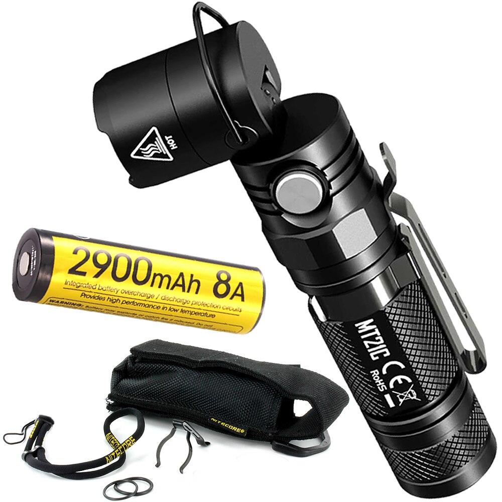 NITECORE MT21C Low Temperature Battery Multi functional 90 Degree Adjustable LED Flashlight Outdoor Portable Diecast EDC