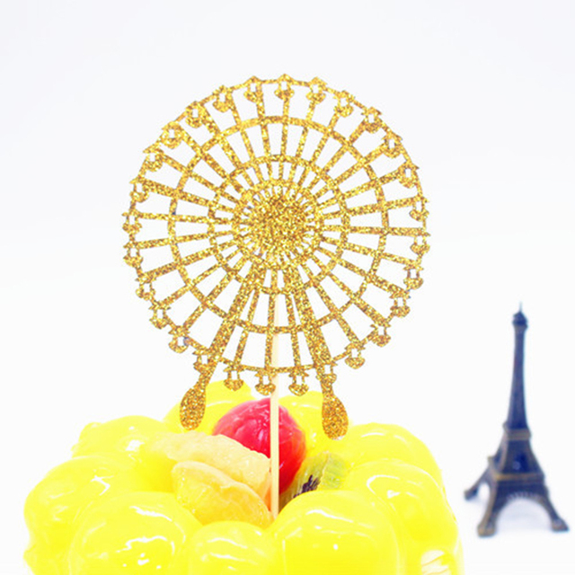 Ferris Wheel Cupcake Cake Topper Happy Birthday Wedding Baby Shower