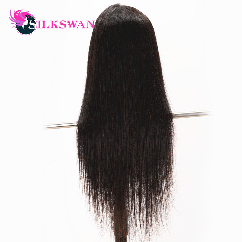Silkswan Straight 13 6 Lace Frontal Human Hair Wigs With Pre Plucked Brazilian Remy Hair Wig