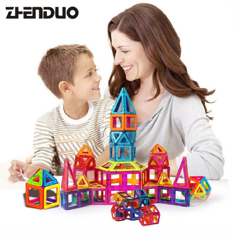 Zhenduo Big Size 48PCS Magnetic Building Blocks Toys Construction Bricks Set DIY Educational Toy Magnet For Kids cheerlink zm 81 3mm neodymium iron diy educational toys set silver 81 pcs