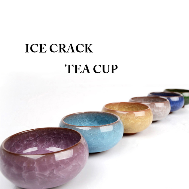 Handmade Kung Fu Ceramic  Ice crack Tea Cup bowl  40ml