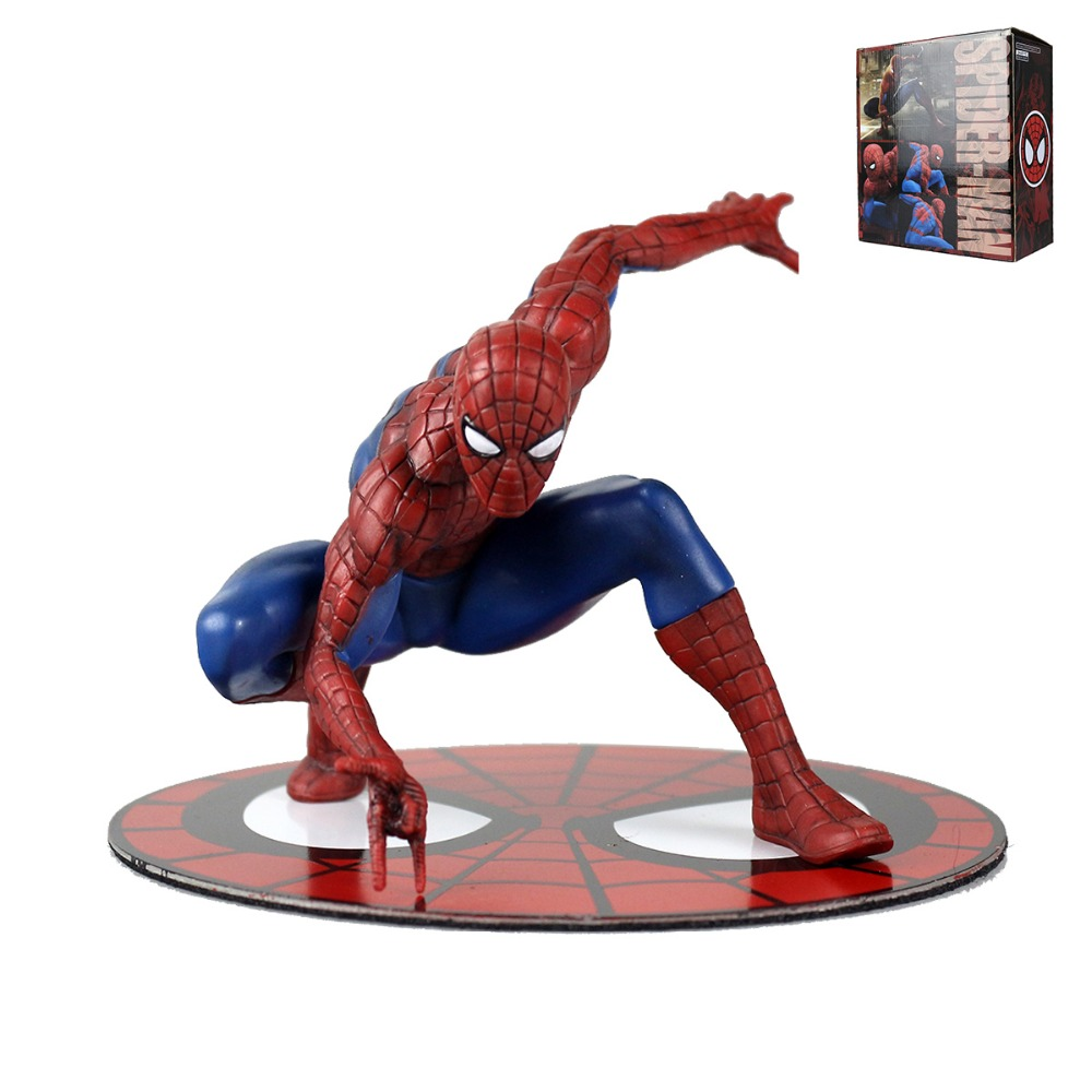 Marvel The Amiazing Spider-Man Magnet Statue Figure Collectible Model Anime Kids Toys 1/10 Scale DC002024 пластилин spider man 10 цветов