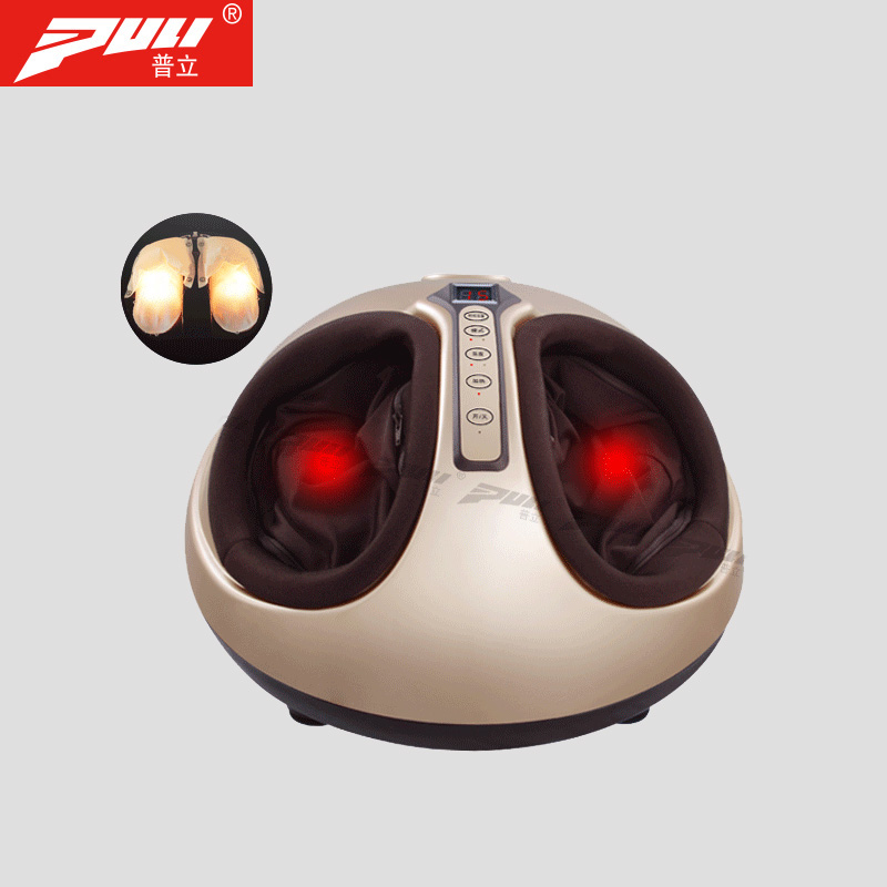 PULI Electric Finger Press Foot Relaxation Massager Far Infrared Heating Roller Kneading Air Compression Reflexology Massage electric shiatsu foot massager far infrared heating kneading reflexology massage device home relaxation back massager