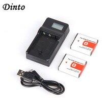Dinto 2 шт. NP-BG1 NPBG1 NP BG1 цифровой Камера Батарея + ЖК-дисплей Дисплей USB зарядное устройство V8 кабель для Sony DSC H3 H5 H7 W70 W80 WX1