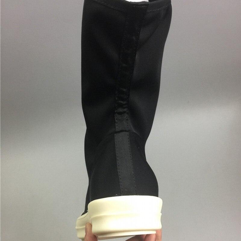 2019 zapatos de calcetín para hombre Botas de tobillo zapatillas de lujo para amantes de la pasarela botas elásticas casuales zapatos planos negros zapatillas de deporte de talla grande - 4