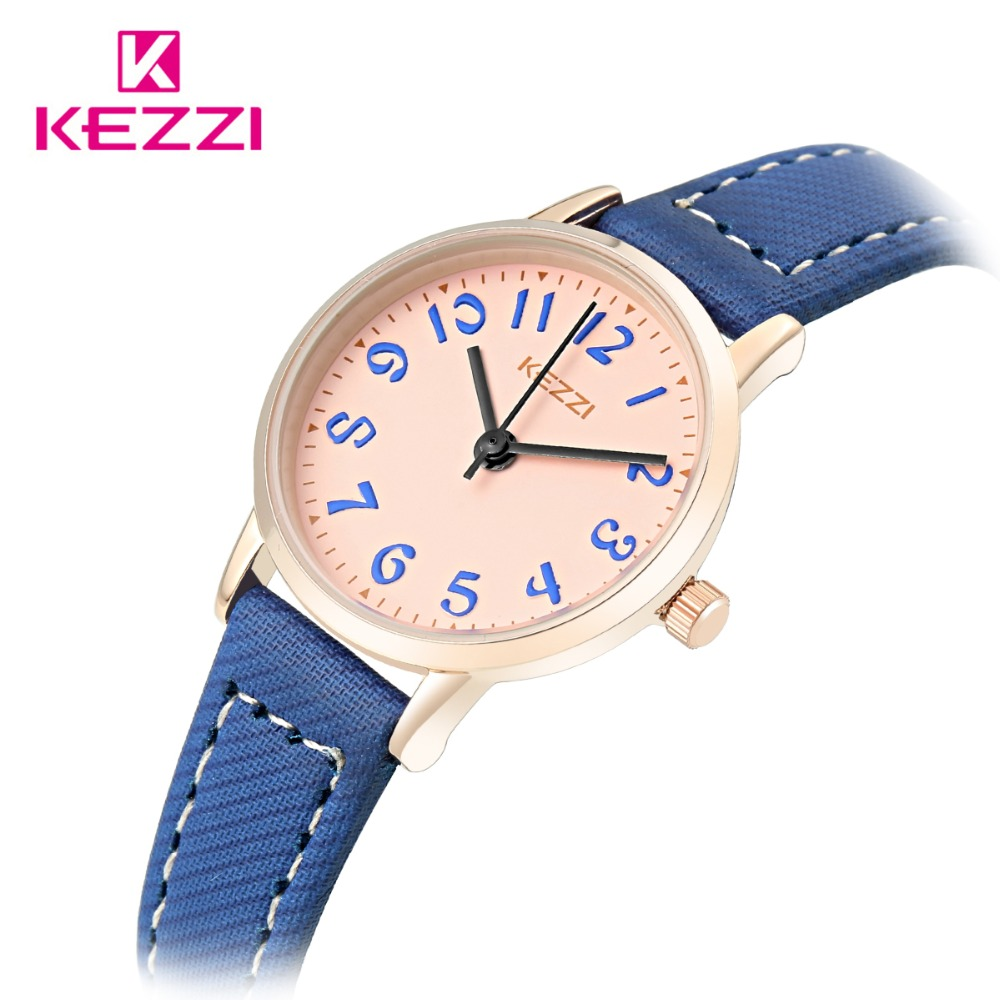 KEZZI Brand Casual Watch Leather Women's Watches Simple Dial Japanese Movement Waterproof Quartz Wristwatch Montre Femme все цены