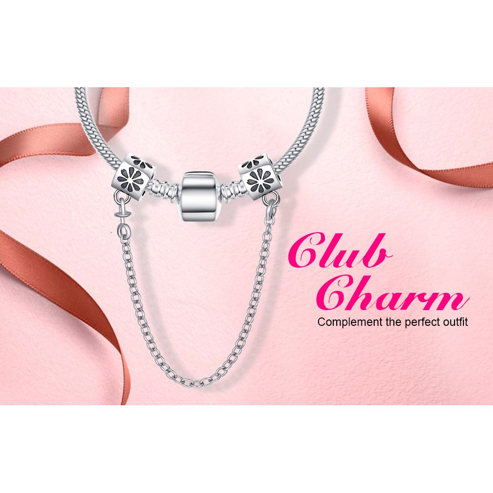 fd072a6114366 Jewelrypalace Silver Flower Safety Chain 925 Sterling Silver Gifts For  Women Anniversary Gifts Fashion Jewelry Hot Selling-in Charms from Jewelry  ...