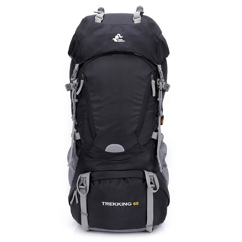 Chevalier gratuit 60L escalade randonnée sac à dos sac à dos avec couverture de pluie cadre interne Trekking sac à dos plein air Sport sacs étanche