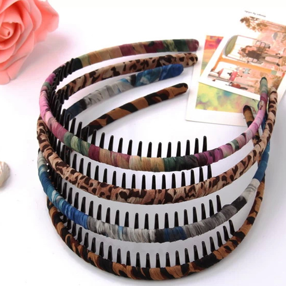 12pcs Girls women Toothed Teeth Comb Hair Hairband Hoop Headband Hairhoop Twining Round Hair Beauty Tools