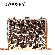 TOYOOSKY Alloy Women Crossbody Bag Sac Main Femme Evening Party Bags Box Clutches Purse Bolso Mujer Designer Female Banquet Bag cocktail prom evening bag long box beautiful girl party banquet purse retro style clutches messeng bag women dinner handbags