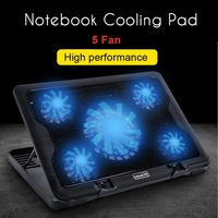 5 Cooler Fan Notebook Cooling Pad Computer Stand Laptop Cooler Super Silent With USB New Cooling