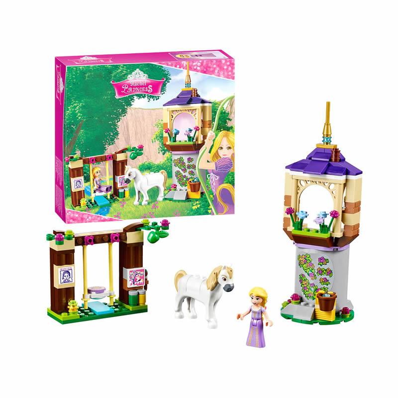 Bela diy Girls Friends Princess Series Rapunzel Castle Gardens Legoingly Building Blocks Bricks Toys for children