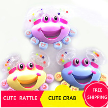 Cartoon Crab Rattle Baby Educational toy Intellectual Development/Parent-child Communicate/Interest Culture/Interactive toy/Grip