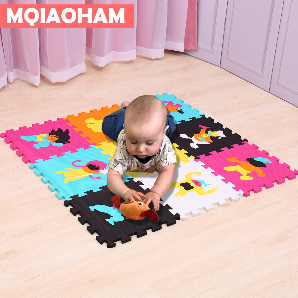 9 Pcs/Lot 30X30cm EVA Foam Puzzle Children Puzzles Kids Rug Interlocking Exercise Floor  ...