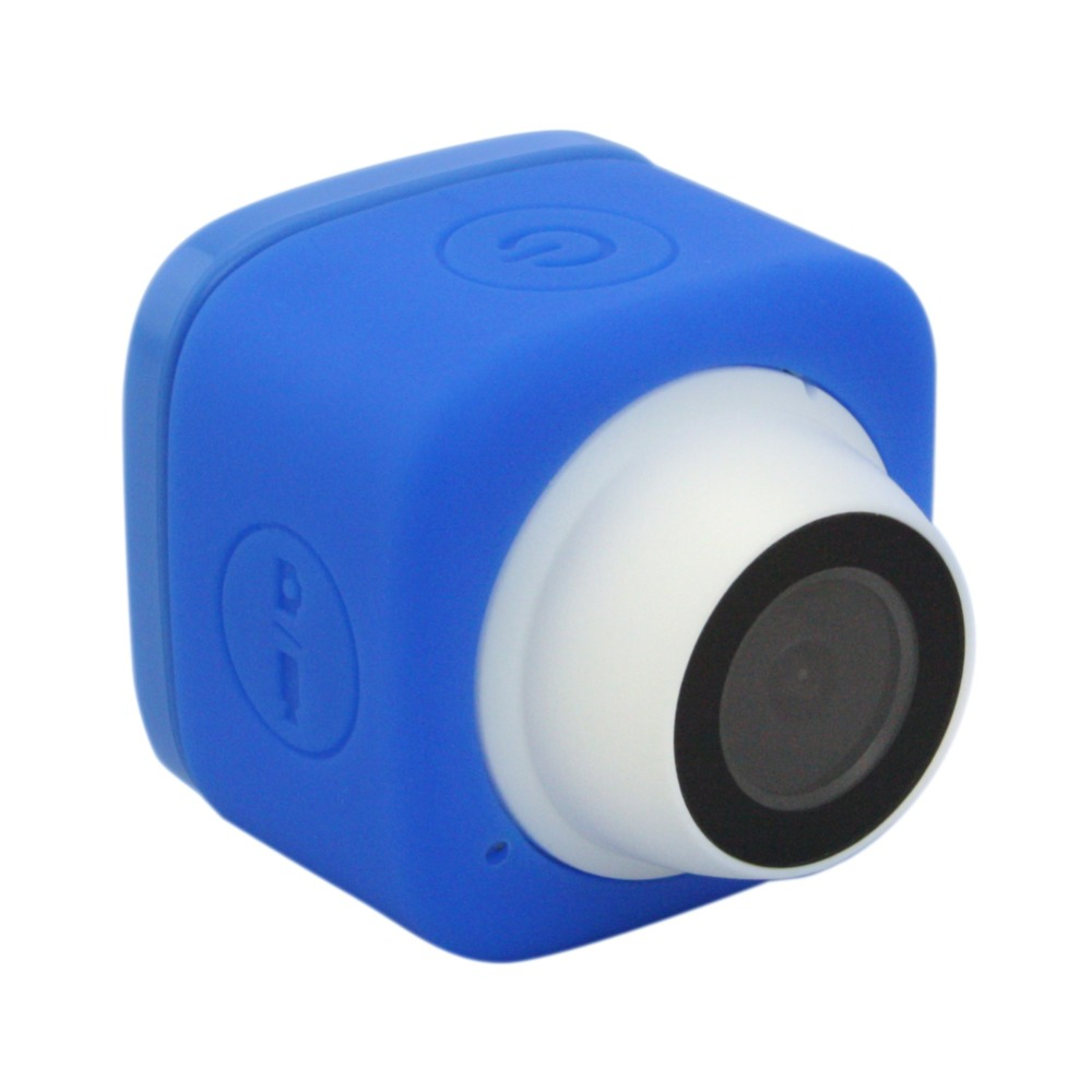 Blue Selfie 720P HD TF Card record Wide Angle 120degree Mini Cude WIFI Camera with USB Cable ,Support IOS Android smart phone real cable hd 120 1m