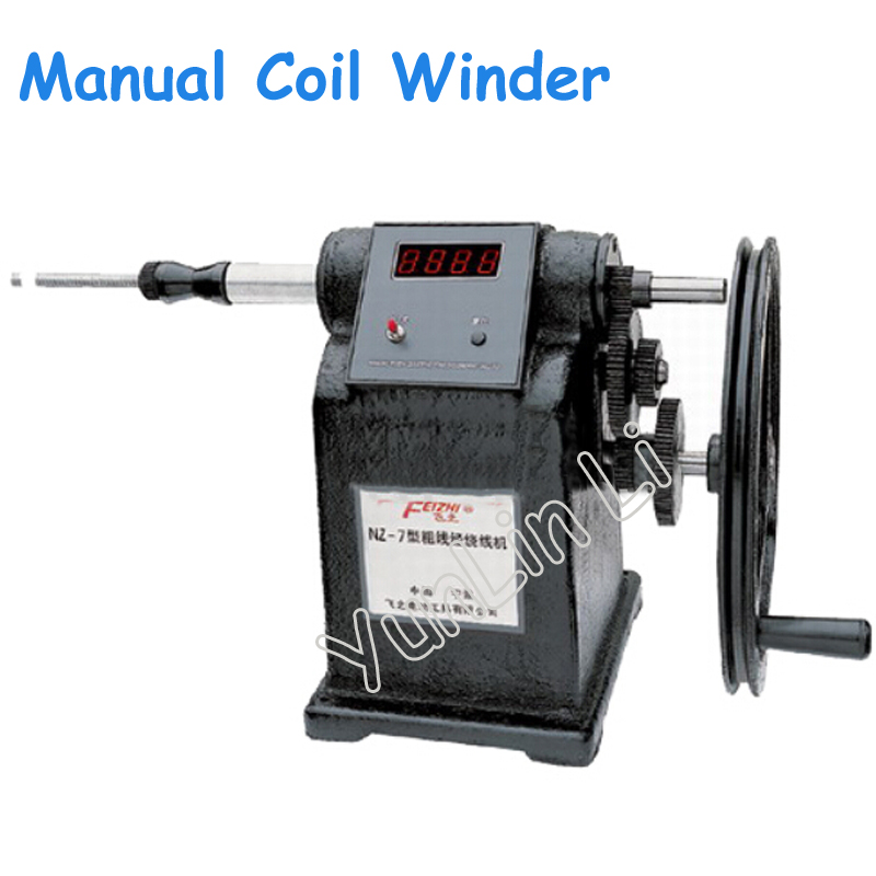 New Manual Coil Winder Hand Coil Counting Winding Winder Machine for Thick Wire 2.5mm NZ-7 цена