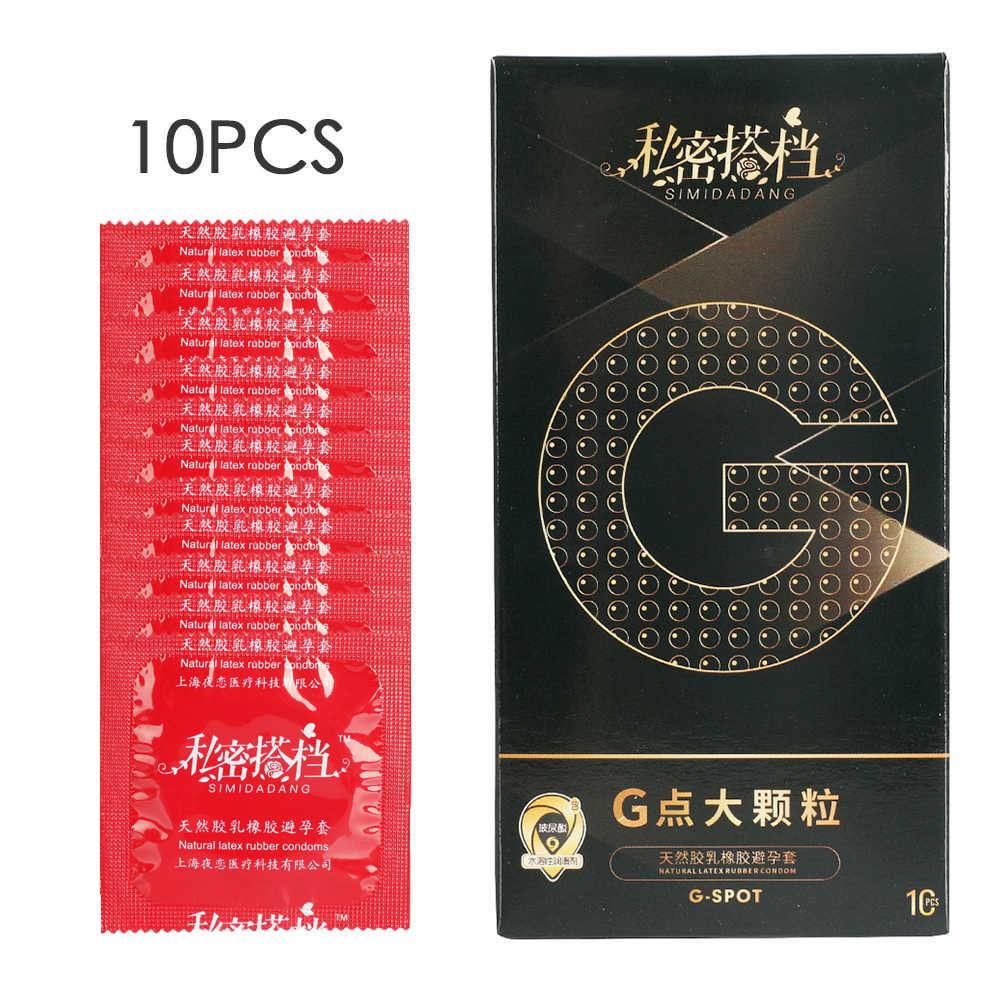1/5/10 Buah G Titik Seksi Lateks Kondom 52 Mm Karet Alam Partikel Penis Kondom untuk Pria seks Erotis Kondom Wanita Kontrasepsi