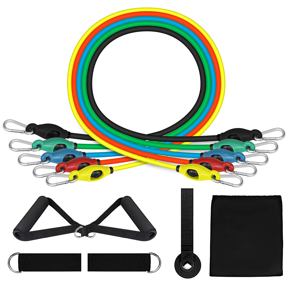 Resistance Bands Set Workout Bands With Door Anchor Handles And Ankle Upgraded TPE Straps For Resistance Training