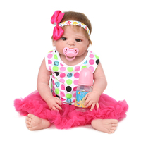 22 55cm Doll Reborn Full Body Silicone Vinyl Reborn Baby Dolls Toys For Girls Lifelike Rooted Mohair New kids Toys