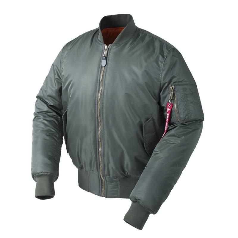 Más tamaño ee.uu. Air Force piloto Ma1 bombardero vuelo chaqueta hombres hip hop acolchado Letterman invierno impermeable Nylon puffer rojo capa de las mujeres