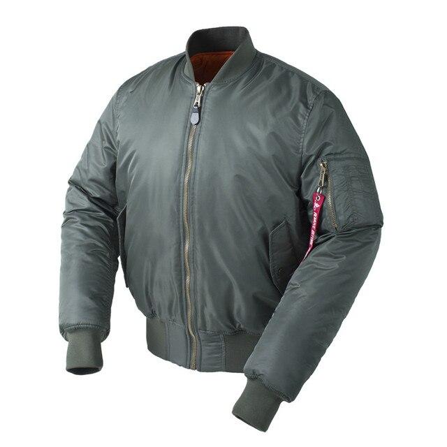 4dc313523bb Plus Size US Air Force Pilot Ma1 Bomber Flight Jacket Men hip hop padded  Letterman Winter Waterproof Nylon puffer red women coat