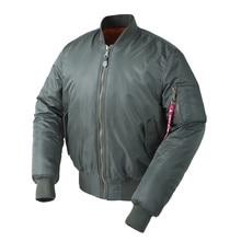 Плюс Размеры ВВС США пилот Ma1 летную куртку бомбардировщик Для мужчин в стиле хип-хоп мягкий Леттерман зима Водонепроницаемый нейлон puffer красный wo Для мужчин пальто