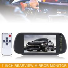 7 inch Car Monitor TFT LCD screen 16:9 2 Channel Video Input Car RGB Digital Display Rear View VCR Monitor Touch Button 1080P
