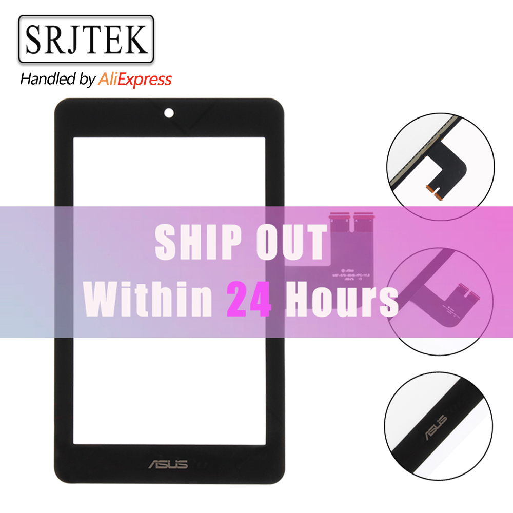 For Asus MeMO Pad HD 7 ME173 ME173X Touch Screen Digitizer Glass Lens Replacement Black black white 10 1 for asus memo pad me103 k010 me103c touch screen digitizer glass panel sensor mcf 101 1521 v1 0