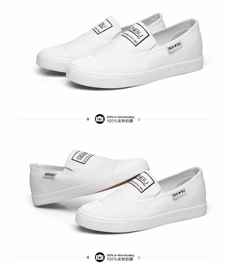 KUYUPP Brand New Woman White Shoes 2016 Summer Casual Flat Slip On Canvas Shoes Round Toe Women\'s Flats Big Size 35-40 PX107 (18)