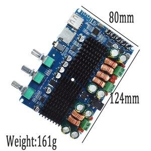 Image 2 - TPA3116 50 Вт + 50 Вт Bluetooth USB TF декодер 2,1 канала цифровой усилитель мощности плата 2,1 цифровой усилитель мощности