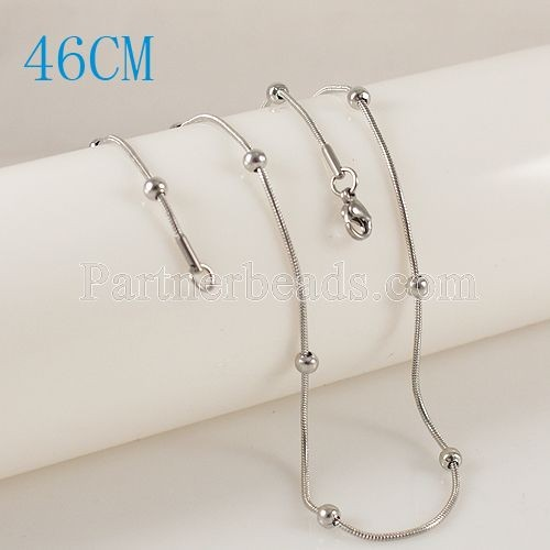 30pcslot 46CM Stainless steel snake  with bead chain fit all jewelry  Chain necklace  FC9008