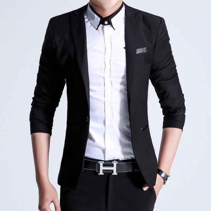 13.1 New Arrival Autumn Grey Formal Dress Blazers Men Solid Slim Fit Mens Blazer Casual Social Business Suit Jacket