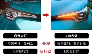 Image 3 - Video 1 adet Tampon ışık CHR için KAFA lambası 2017 2018 2019 C HR Far led, araba aksesuarları, rush, CHR ön ışık, araba sticker, C HR