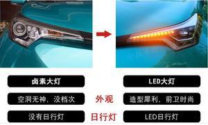 Image 3 - Wideo 1 sztuk światło na zderzak dla CHR lampa czołowa 2017 2018 2019 C HR reflektor led, akcesoria samochodowe, rush, przednie światła CHR, naklejki samochodowe, C HR