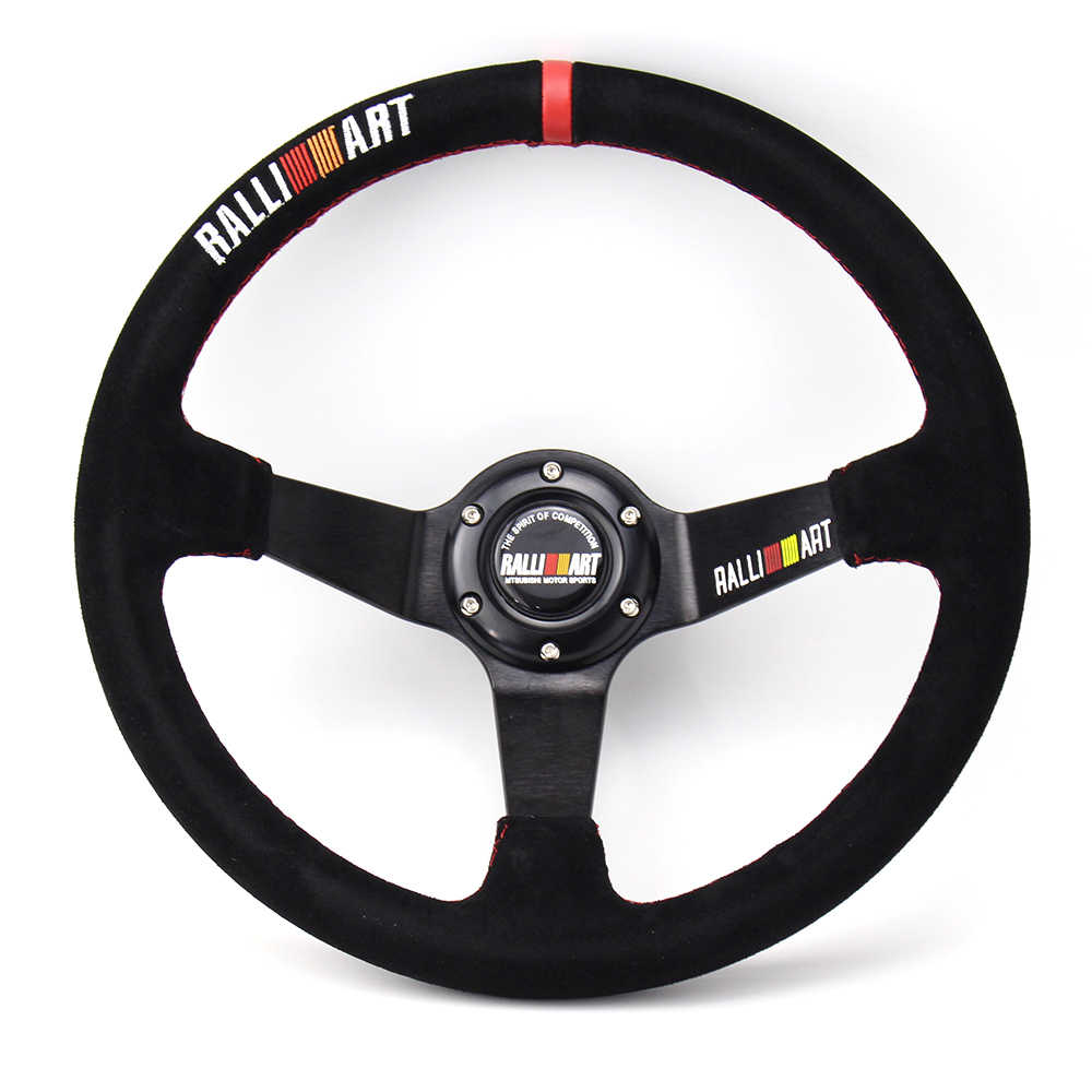 Ralliart 350 Mm 14 Inch Deep Dish Suede Racing Stuurwiel