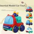 Nuevo tirón de la llegada de nuevo modelo multicolor plástico lindo mini tira del modelo del coche inercial juguetes para bebés juguetes de los niños juguetes educativos