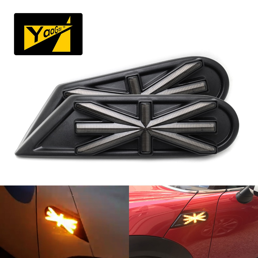 For Mini Cooper R55 R56 R57 R58 R59 Dynamic Blinking Side Marker Lights Assembly Turn Signal