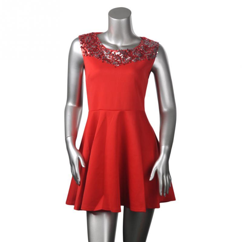 Popular Red Sequin Mini Dress-Buy Cheap Red Sequin Mini Dress lots ...