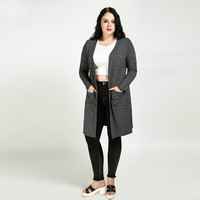 Cardigan Women 6xl Plus Size Women Clothing 5xl Ferminino Cardigans Long Loose Knittes Sweater Coat Casual 4xl 3xl Autumn Spring
