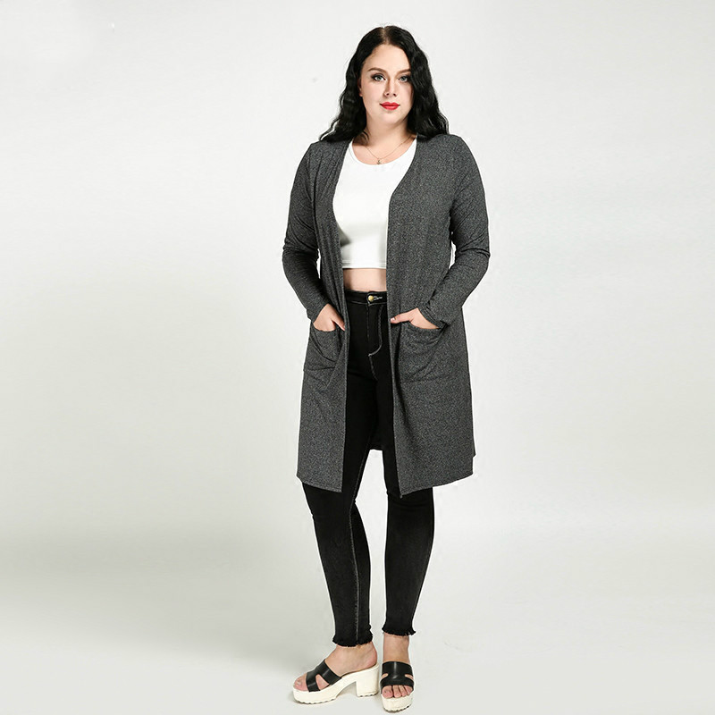 Cardigan Women 6xl Plus Size Women Clothing 5xl Ferminino Cardigans Long Loose Knittes Sweater Coat Casual 4xl 3xl Autumn Spring ...