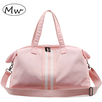 Fashion Solid Waterproof Women Travel Bag Pocket Luggage Duffle Tote Separate Space Fitness Shoulder Handbags Travelling Bags