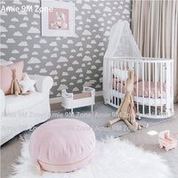 Tuya Art Mural wallpapers light grey cloud pattern wallpapers for kid's room wall decor Chinldren room wall paper warm color